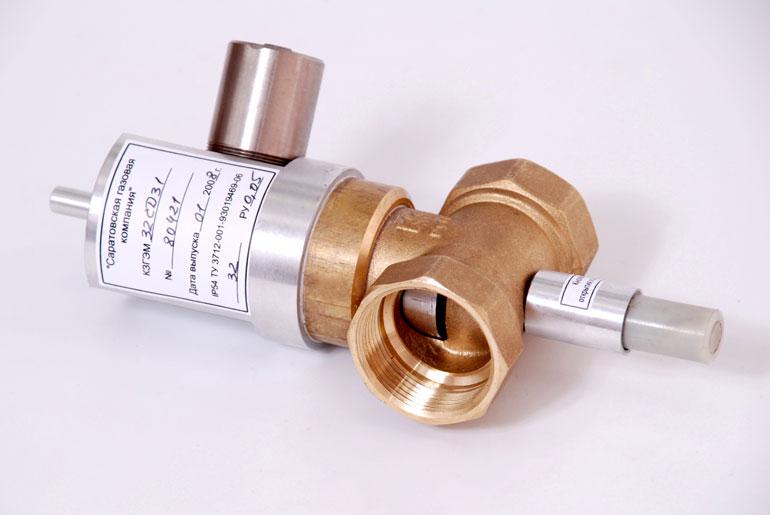 Клапан запорный газовый с